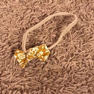 Other - Mustard floral baby bow